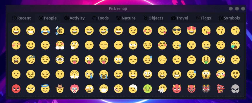 Emoji Keyboard Ekranı