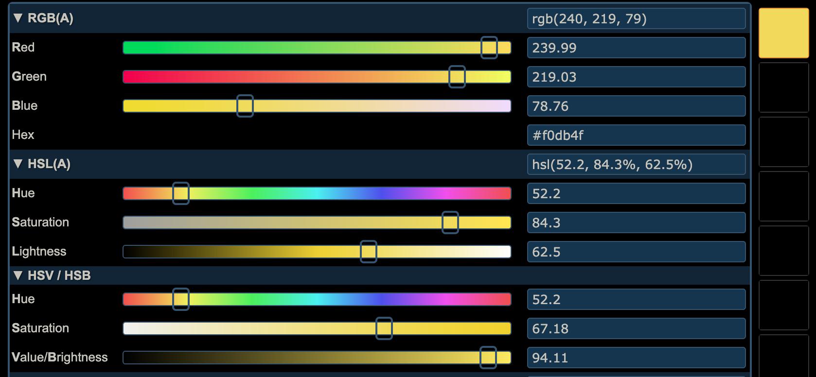 screenshot of minion yellow conversion on colorizer.org