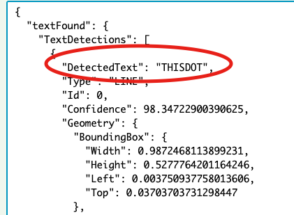 Detected Text