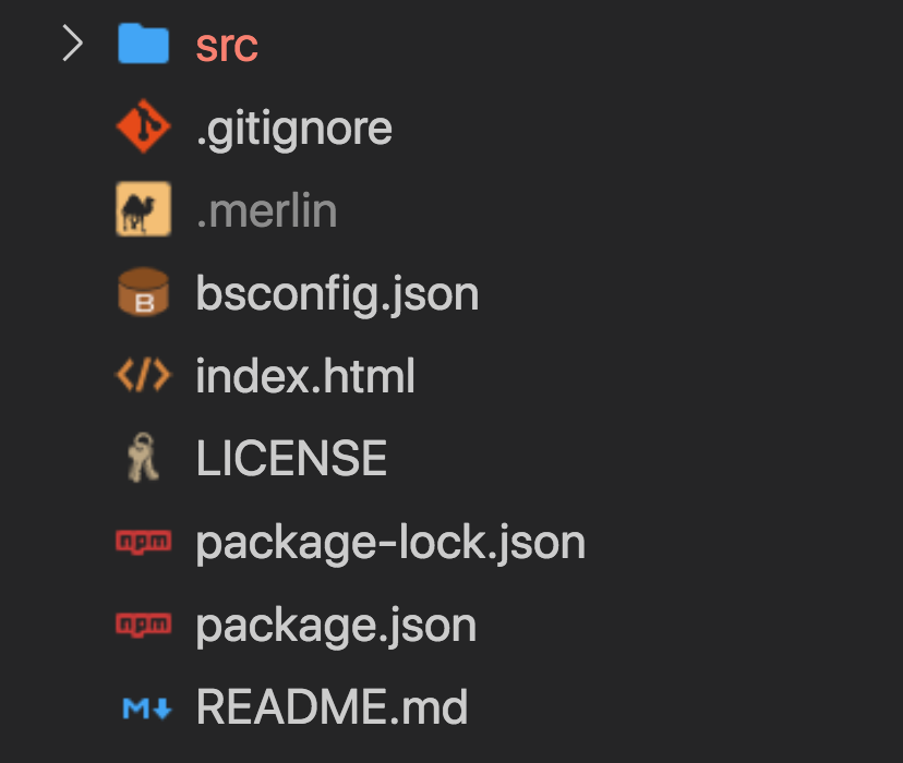 screenshot showing Reason project directory