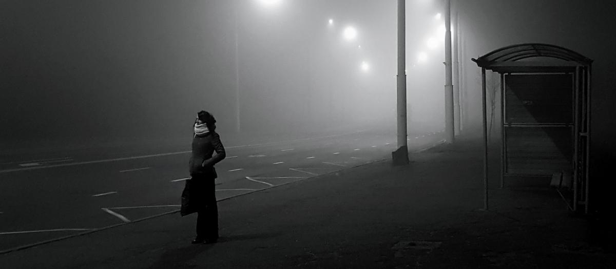 Person in the dark