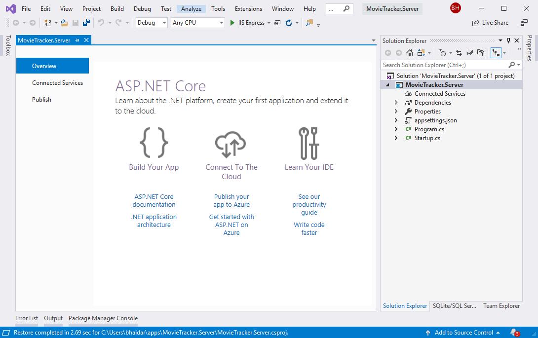 Visual Studio Project Created