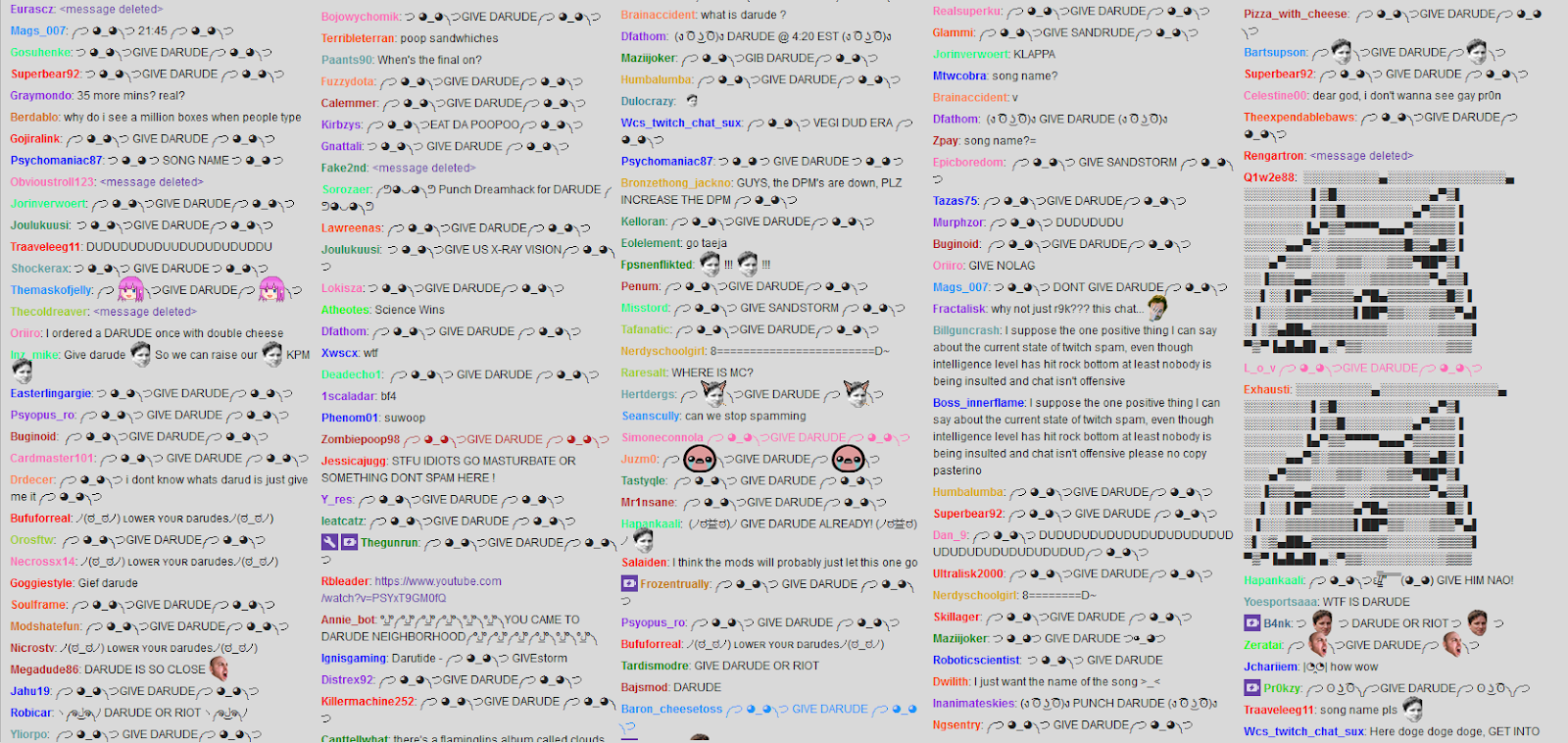Twitch Chat Mess