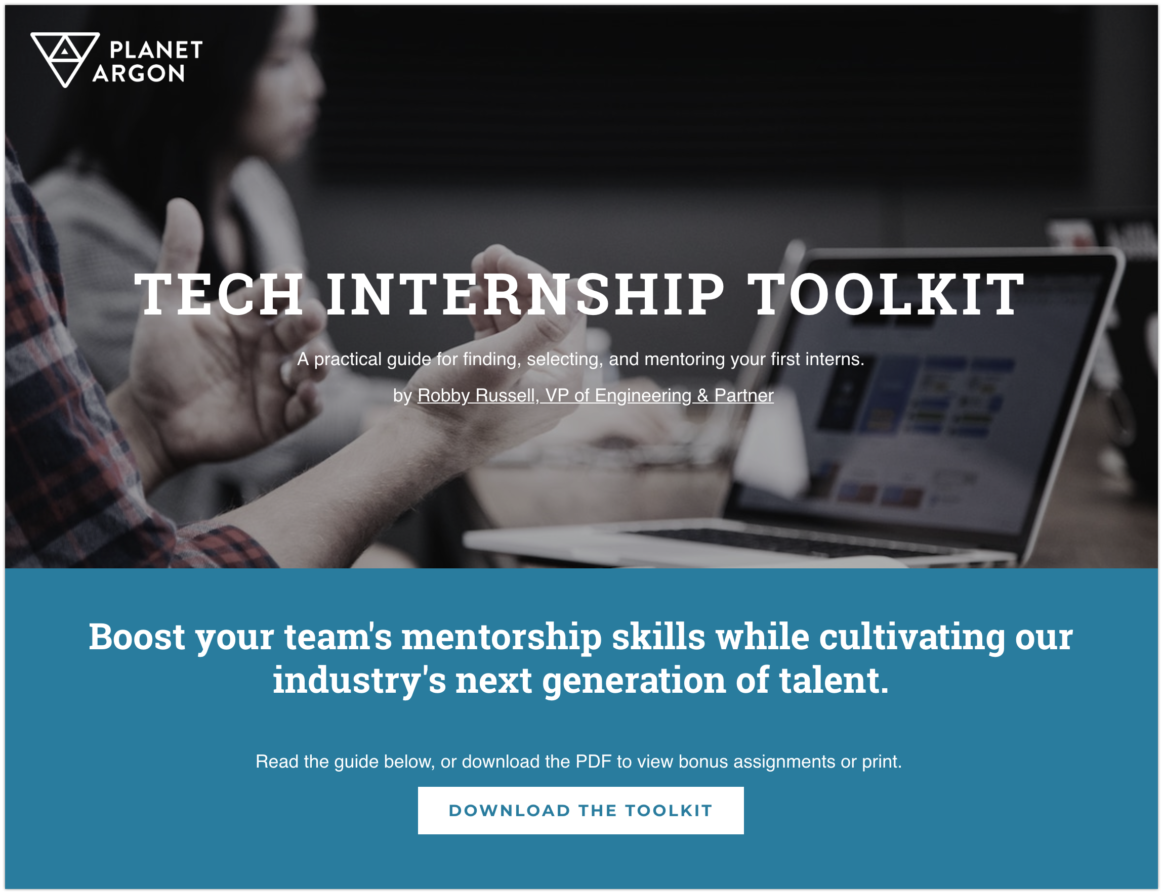 Go download our tech internship toolkit — it's free!