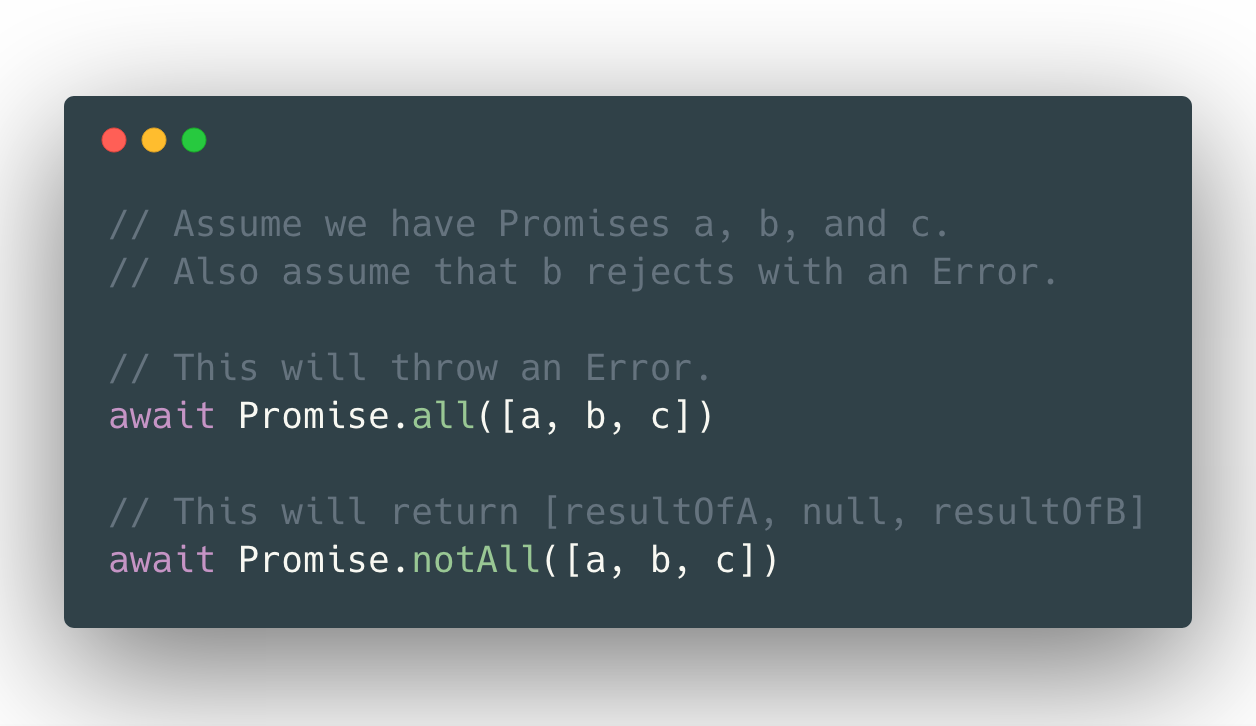 Promise.notAll usage