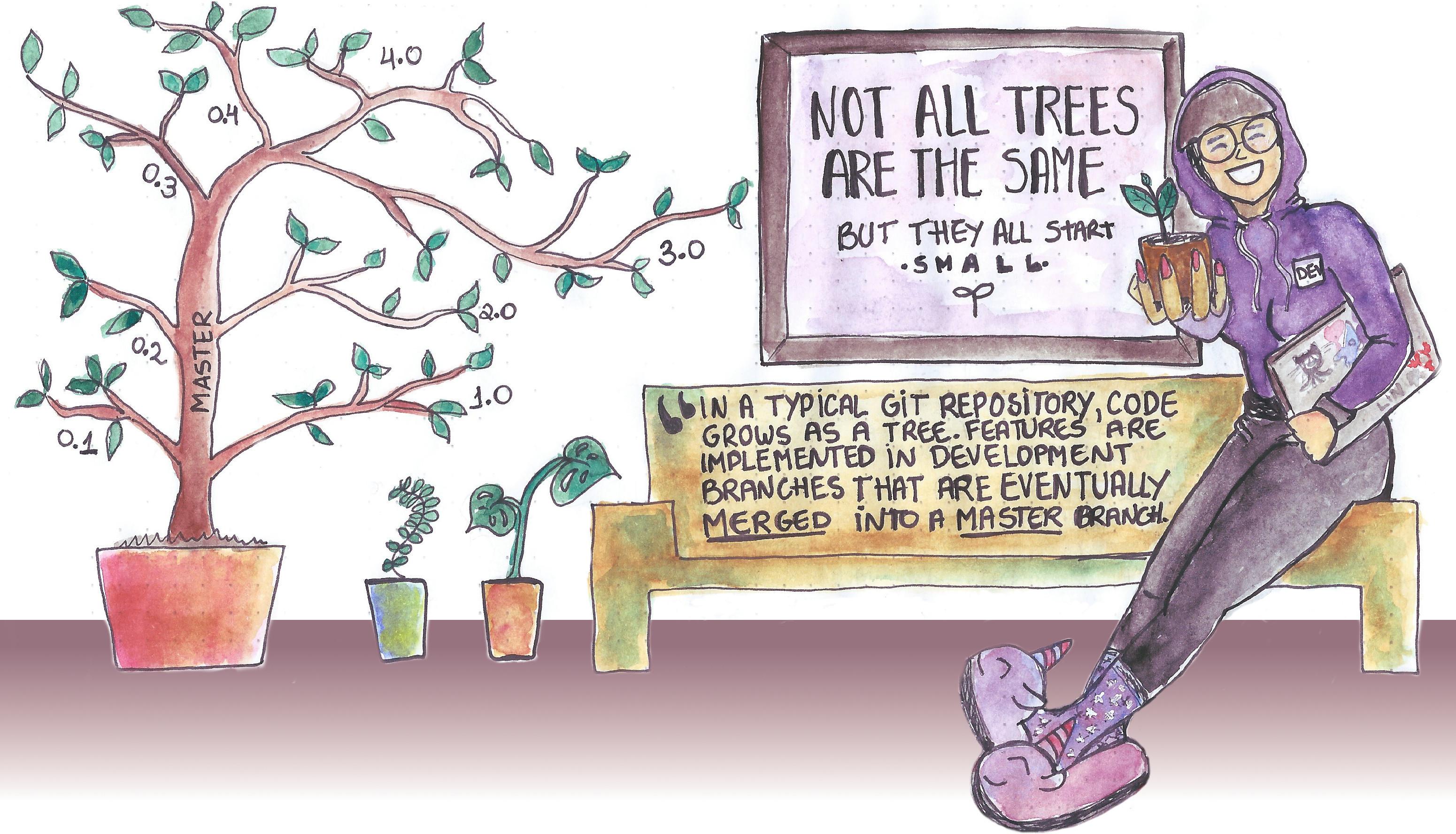 Git Tree Illustration