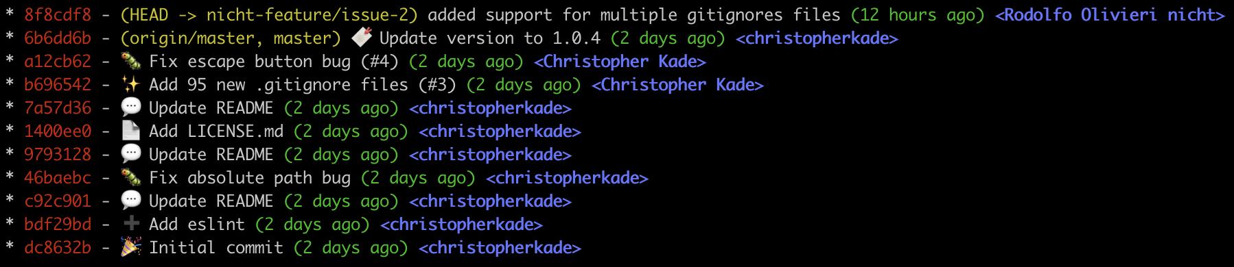 git log screenshot 2