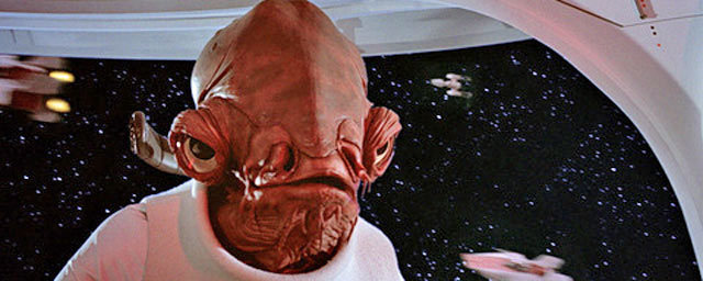 """Admiral Ackbar from Star Wars - """"It's a trap"""" reference"""