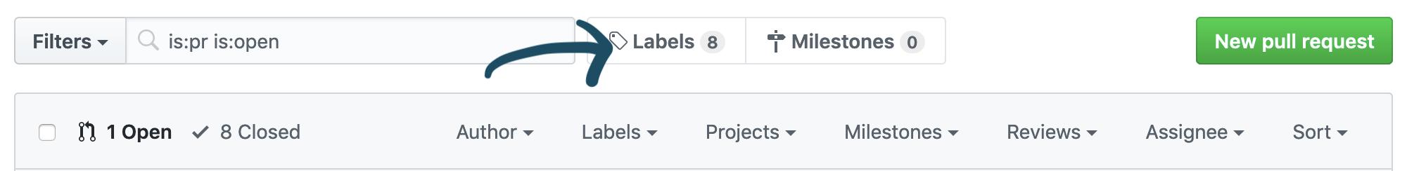 labels link screenshot