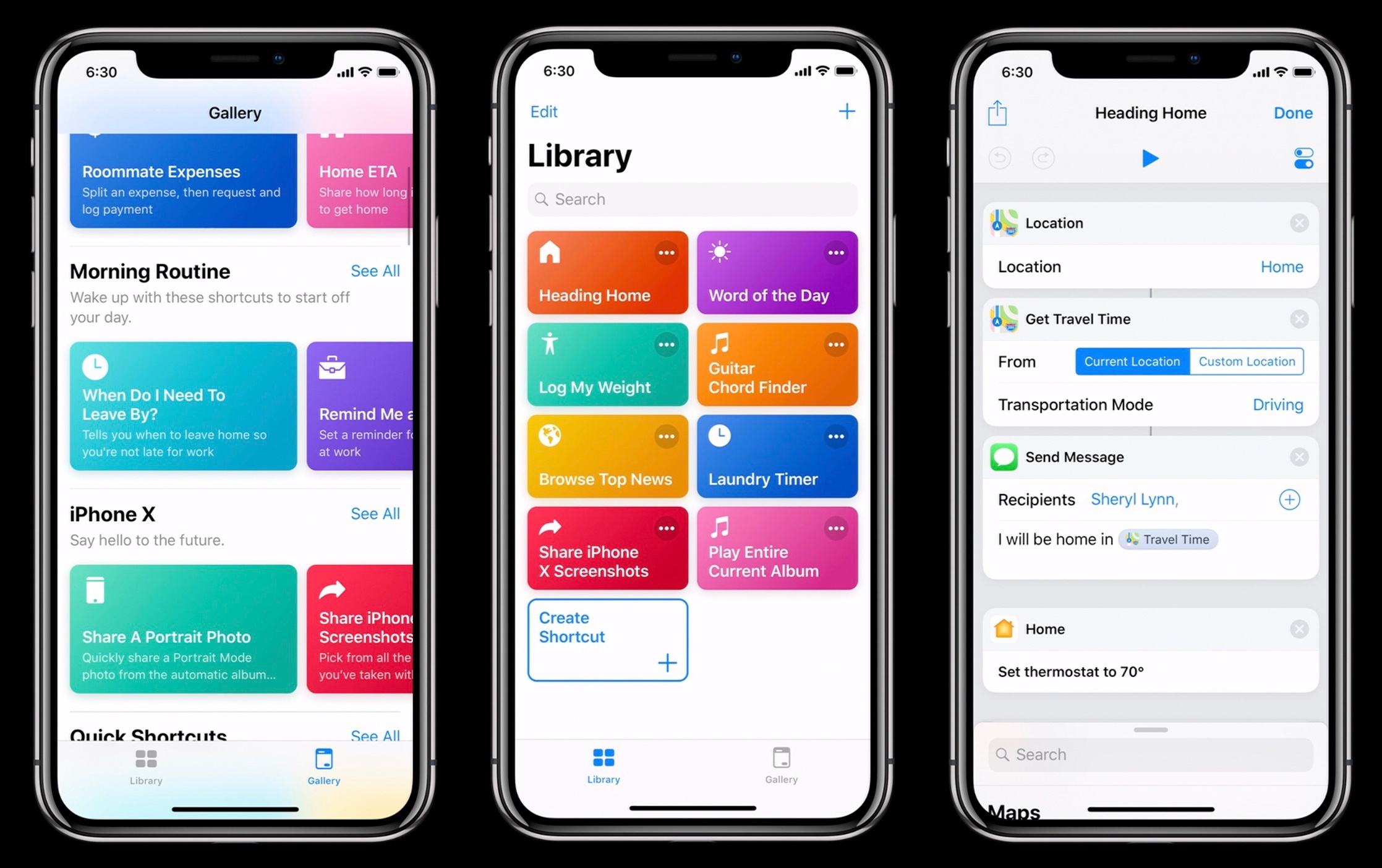 iOS shortcuts application