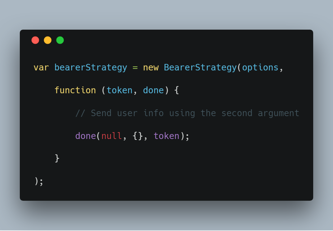 You can add the users information to the req.user by accessing information off the token and setting it in the second argument {}.