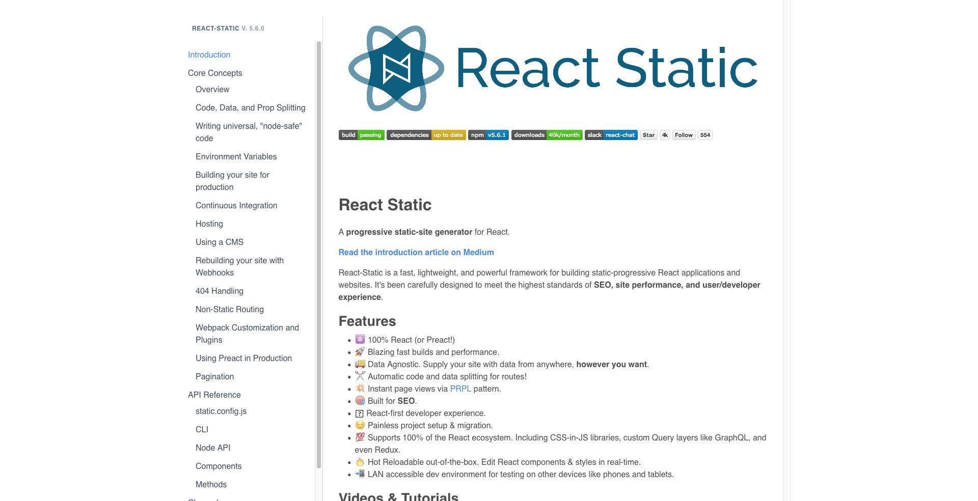 React Static