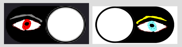 Dark and light icons for the Benseddik website.
