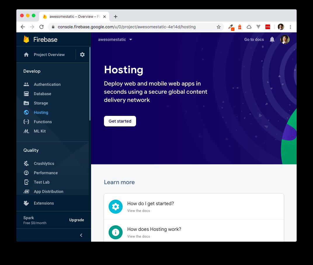 Firebase Hosting Page