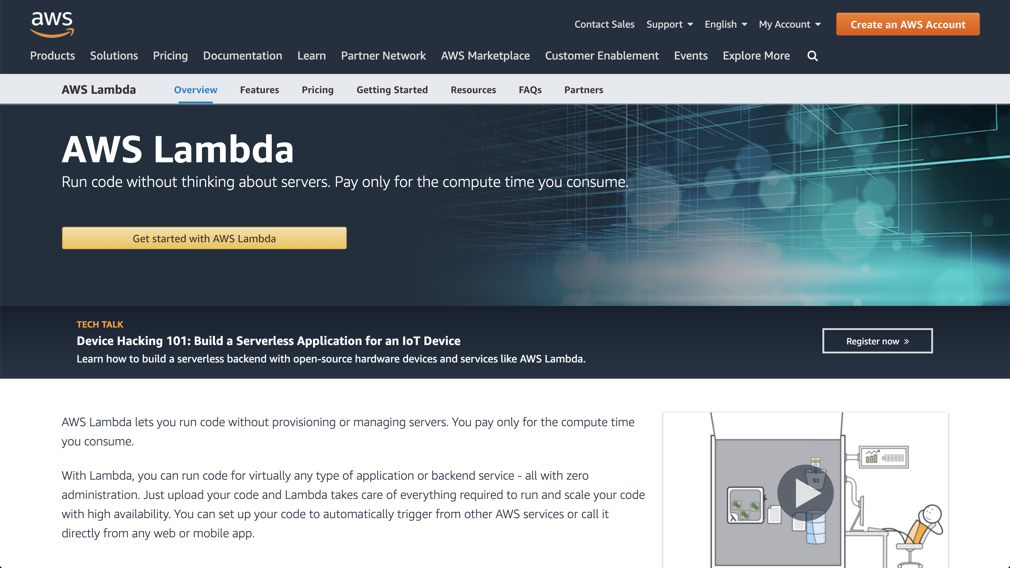 AWS Lambda Homepage