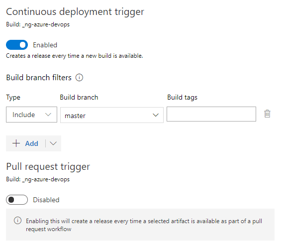 Continuous Deployment trigger
