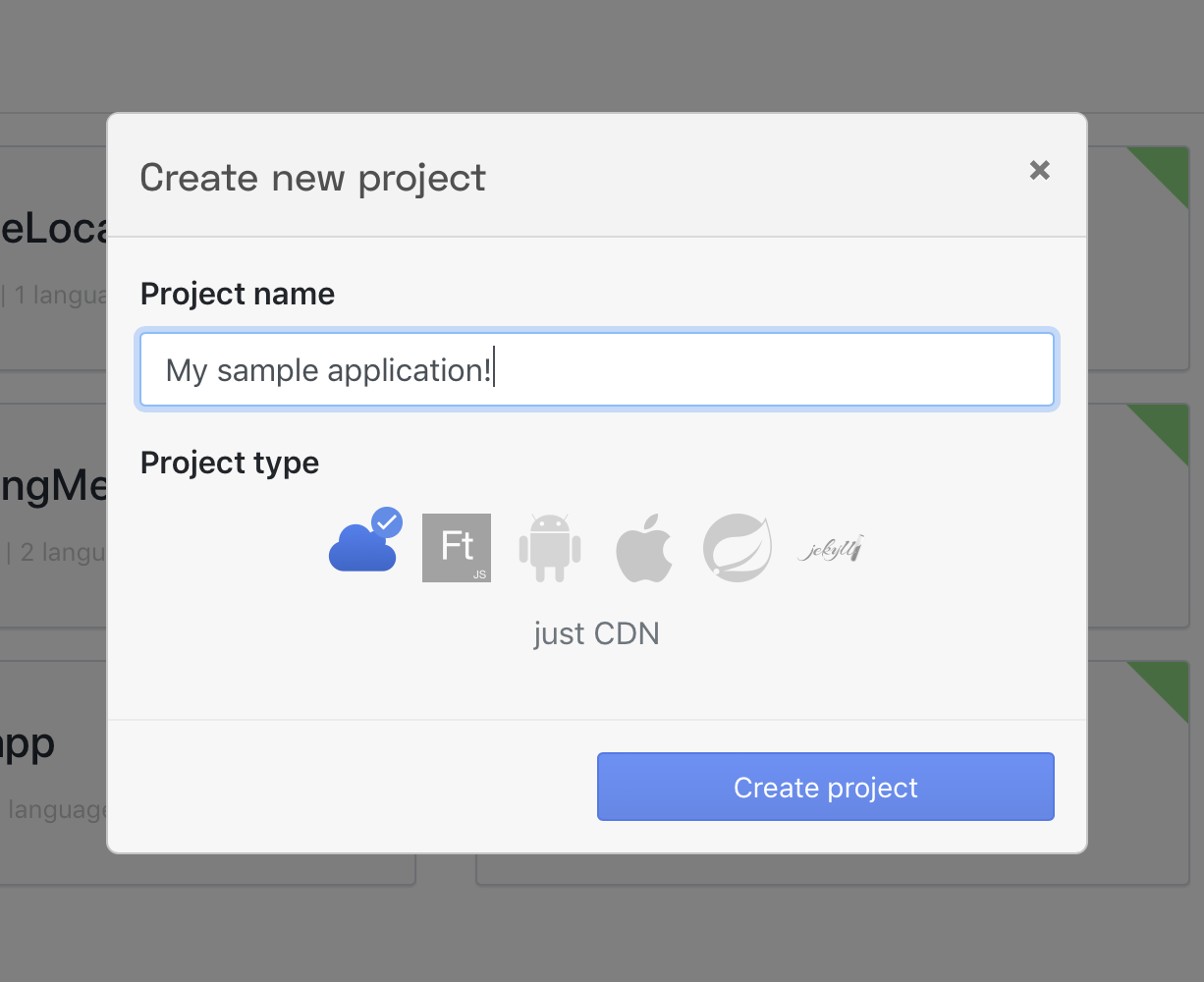 create-project