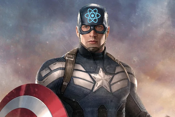 React as Captain America