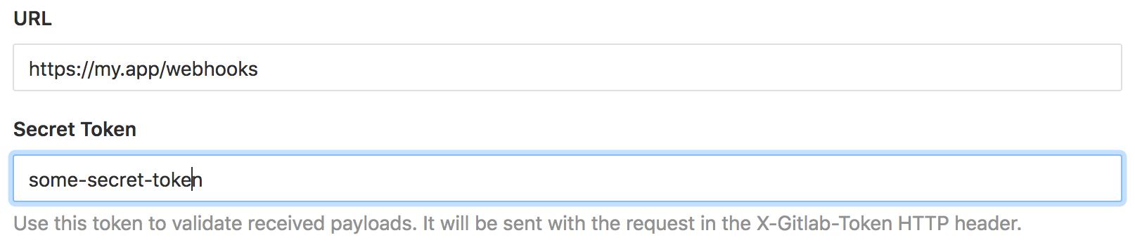Gitlab webhooks