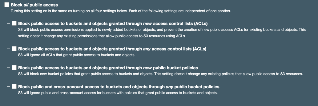 S3 public access