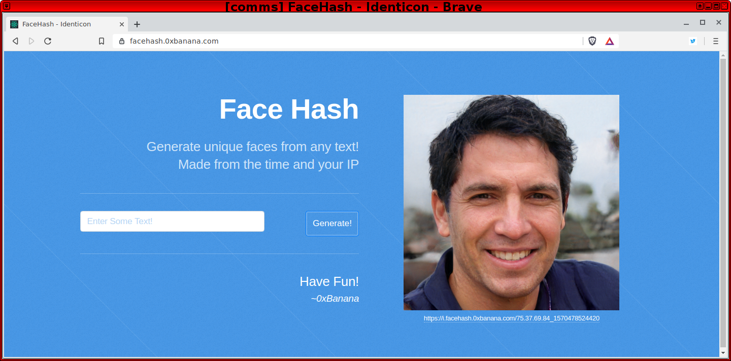 Face Hash - Identicon Uncanny Valley