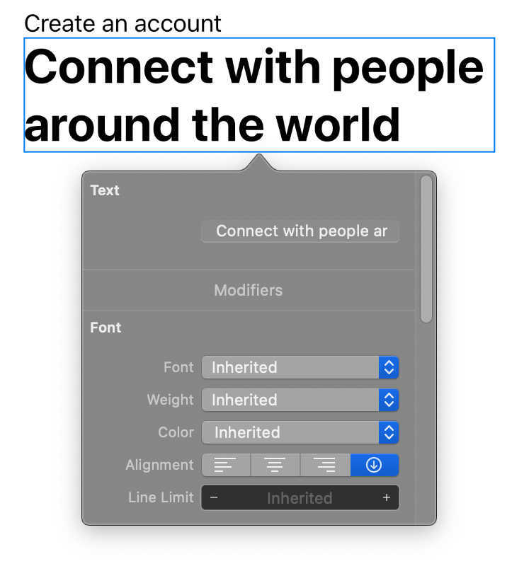 SwiftUI Inspector in Xcode