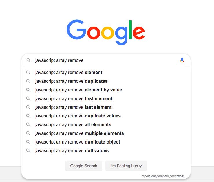 google search auto complete