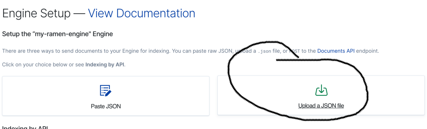 Upload JSON To App Search