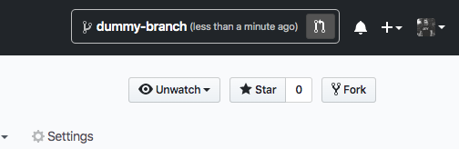 Screen shot of Refined GitHub prompting a user to create a PR