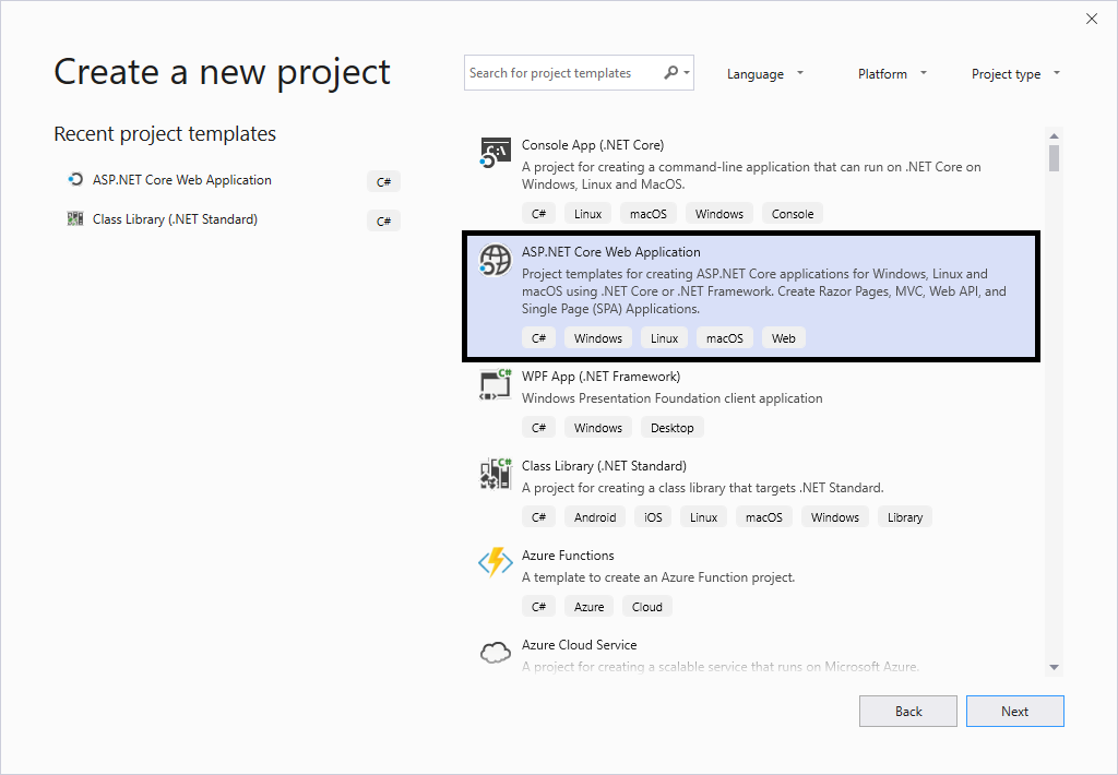 ASP.NET Core Project Template