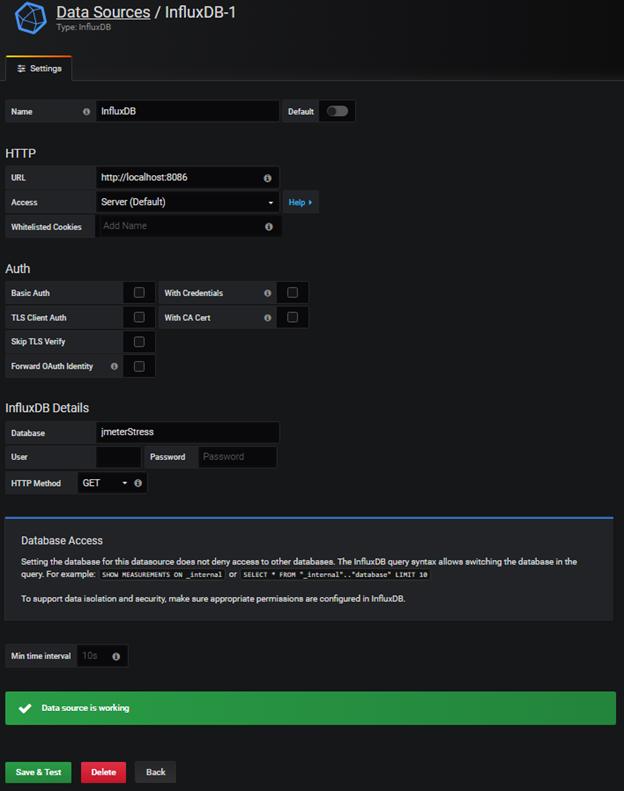Grafana for real time JMeter test monitoring - DEV Community