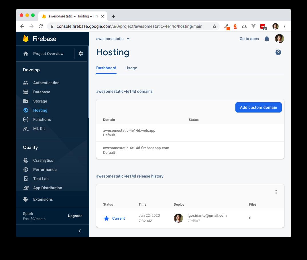 Firebase Deployed URLs