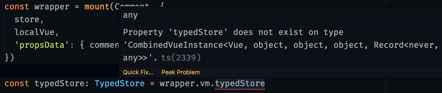 Really typing Vue