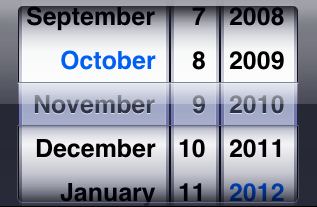 Nowhere outside of iOS do you interact with a calendar likethis