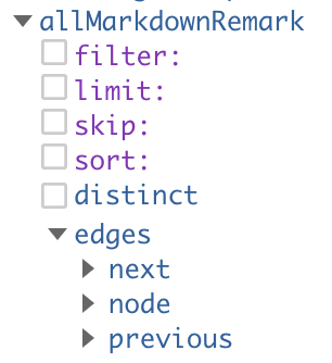 next and previous are options under edges